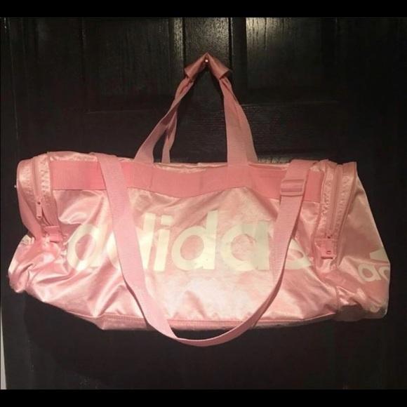 159e22539 adidas Handbags - Adidas Light pink and white gym/duffel bag